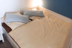 Schlafbereich der Ferienwohnung in Heiligenhafen